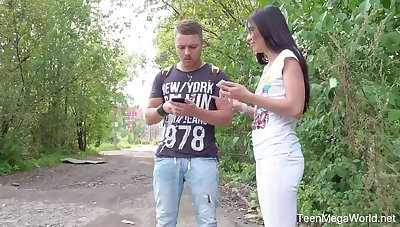 Yummy Russian teen Roxy Sky gets will not hear of anus stretched on the first date