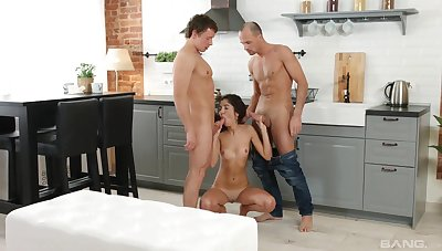 Young amateur deals both their way pretence brother coupled with his friend