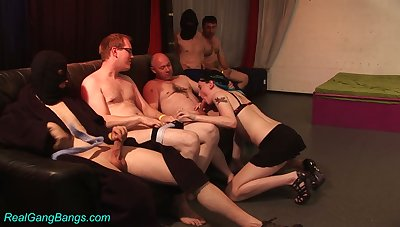 Sex-starved nerds fucks professional hooker Trixi four after another