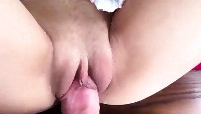 Dilettante Teen Tight Pussy Premature Cum on Innards