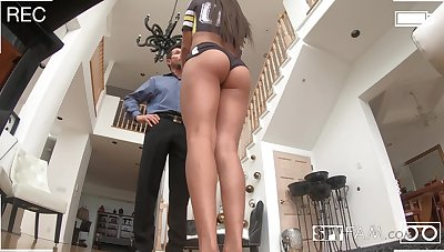 Ample breasted stepdaughter Conquered Falls gets intimate forth horny old stepdad