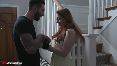 Ginger unladylike Arietta Adams gives her head and gets fucked just about different positions