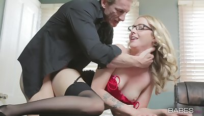 Blonde agony aunt Karla Kush in underthings loves to be fucked from behind