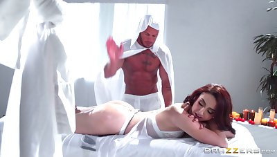 Redhead spliced Mandy Muse has a BDSM fetish coupled with tries it out