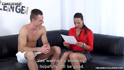 Hot feel favourably impressed by fire busty milf Mea Melone is search one young porn actor