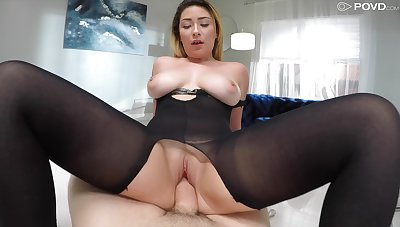 Mature fit together Serena Skye fingered and fucked by the neighbor